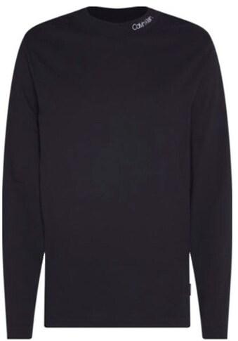 Calvin Klein Langarmshirt »LOGO MOCK NECK LONG SLEEVE TEE« kaufen