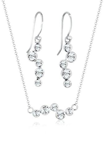 Elli Schmuckset »Kristalle Rund (3.tlg) 925 Silber« kaufen