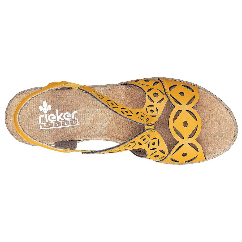 Rieker Sandalette, mit modischer Musterung