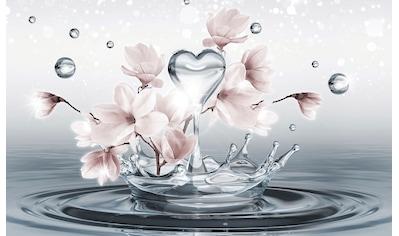 CONSALNET Fototapete »Magnolie 3D im Wasser«, Vlies, in verschiedenen Größen kaufen