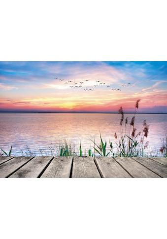 Home affaire Leinwandbild »Kesipun: Der See in den Farben der Wolken« kaufen