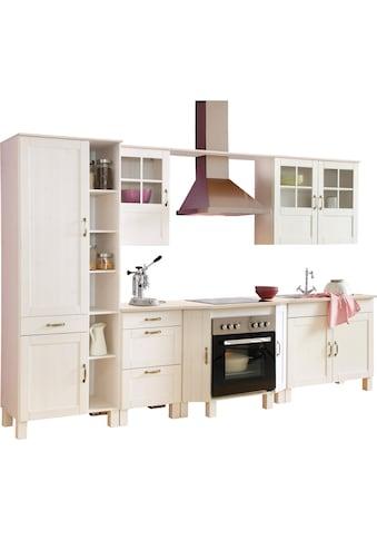Home affaire Küchen-Set »Alby«, ohne E-Geräte, Breite 325 cm, aus massiver Kiefer kaufen