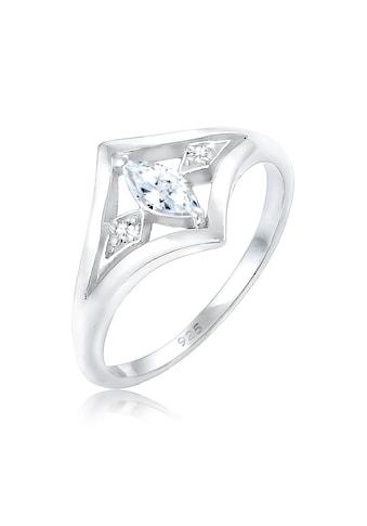 Elli Verlobungsring »Bandring Zirkonia Marquise Vintage 925 Silber« kaufen