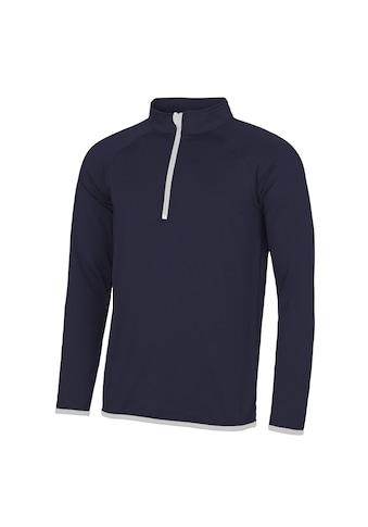 AWDIS Stehkragenpullover »Just Cool Herren Sweatshirt mit Reißverschluss bis zur Brust« kaufen