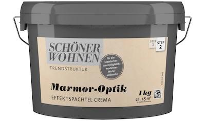 SCHÖNER WOHNEN FARBE Spachtelmasse »Marmoroptik Effektspachtel 1,0Kg crema« kaufen