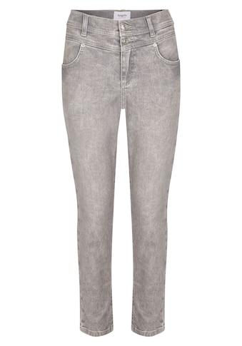 ANGELS Slim-fit-Jeans, 'Ornella Button' mit unifarbenem Stoff kaufen