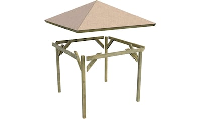 KARIBU Set: Holzpavillon »Cordoba 1«, BxT: 357x357 cm kaufen
