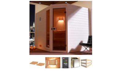 weka Sauna »Lars Eck 3«, 7,5 kW Ofen mit ext. Steuerung kaufen