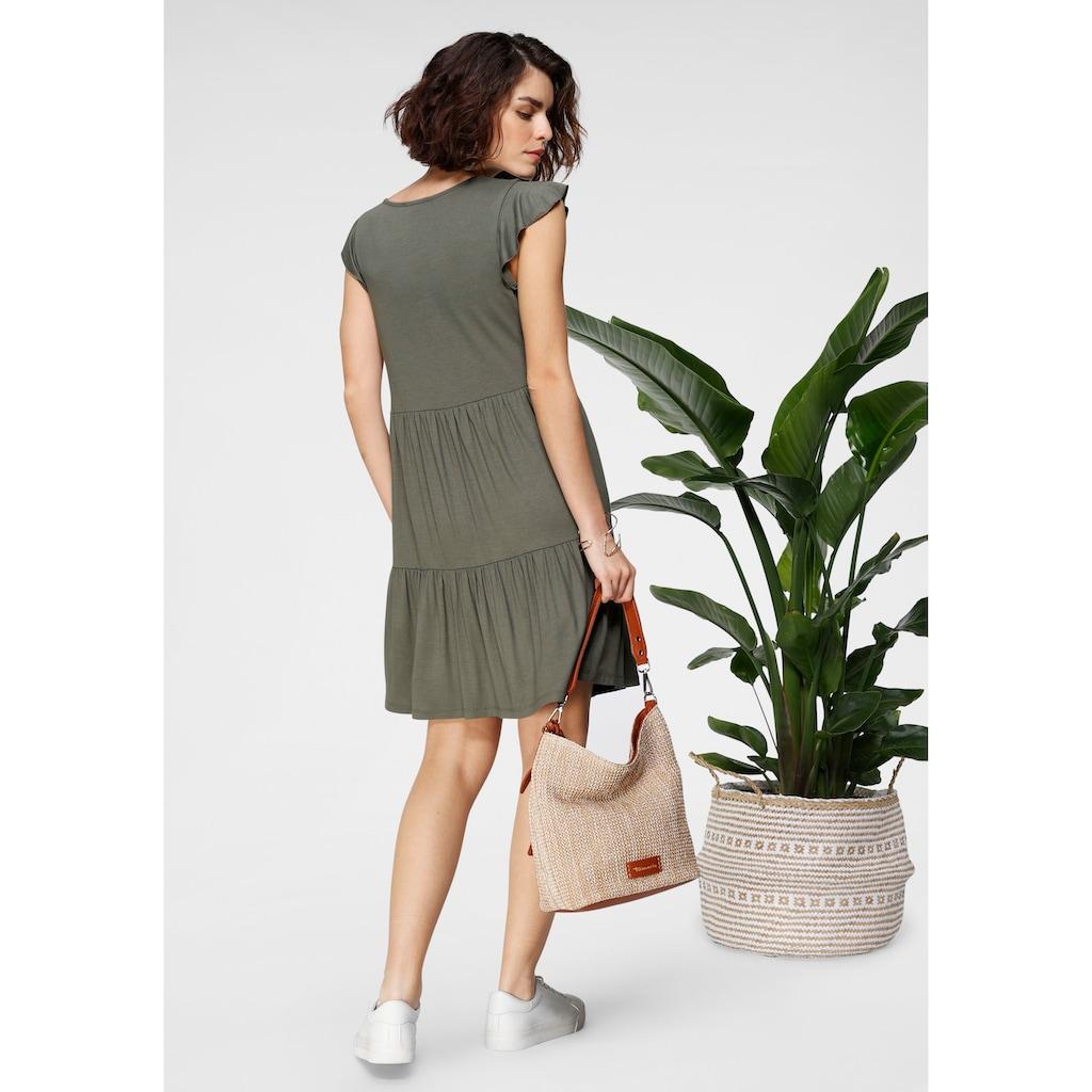 Tamaris Jerseykleid, mit Volants