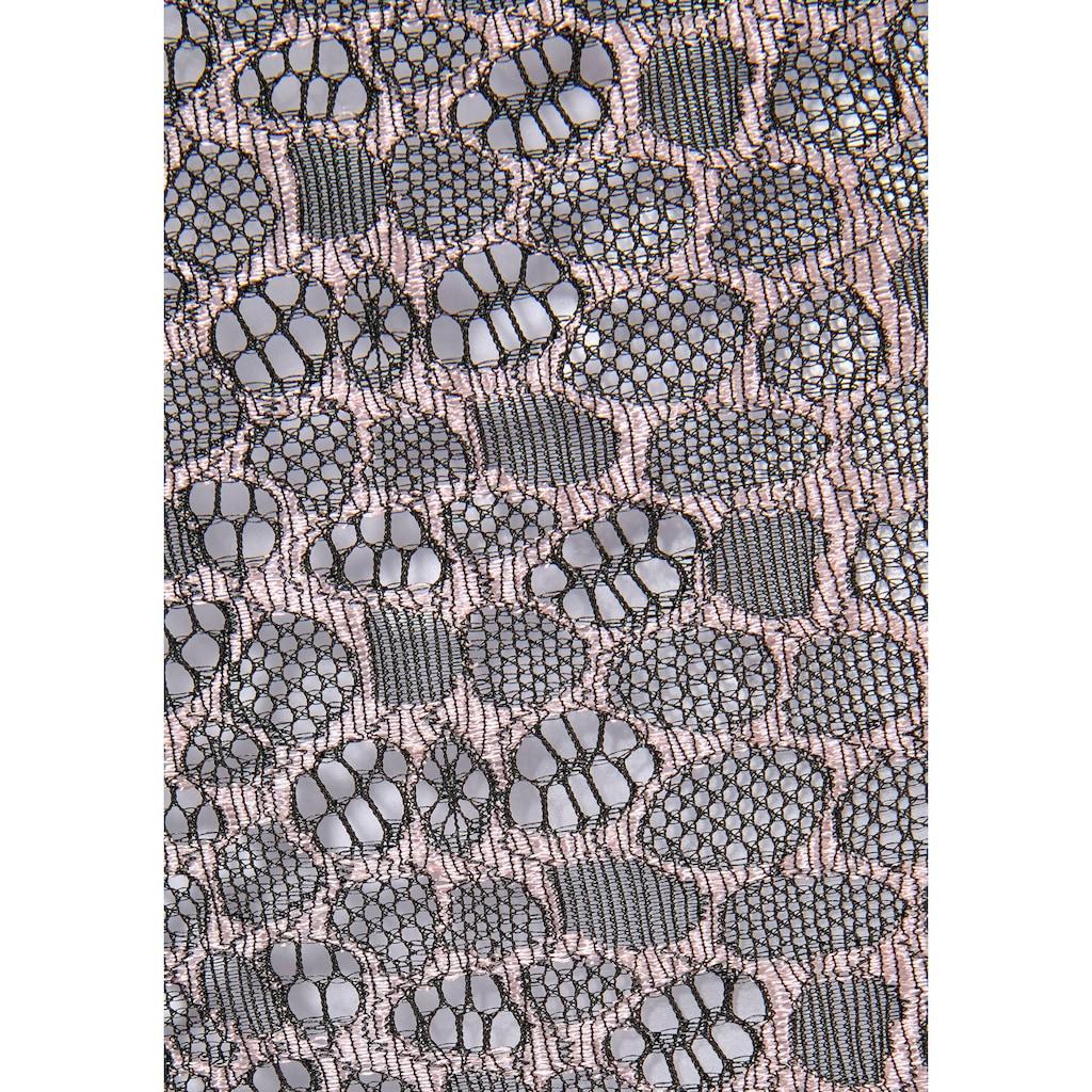 LASCANA High-Waist-Slip, mit abnehmbaren Strapsen