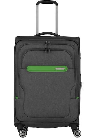 travelite Weichgepäck-Trolley »Madeira, 67 cm, anthrazit/grün«, 4 Rollen, mit... kaufen
