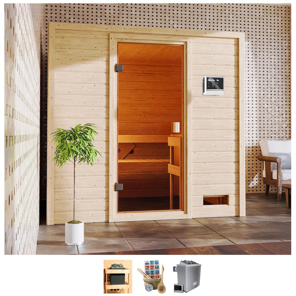 Karibu Sauna »Ricky«, 4,5-kW-Ofen mit ext. Steuerung