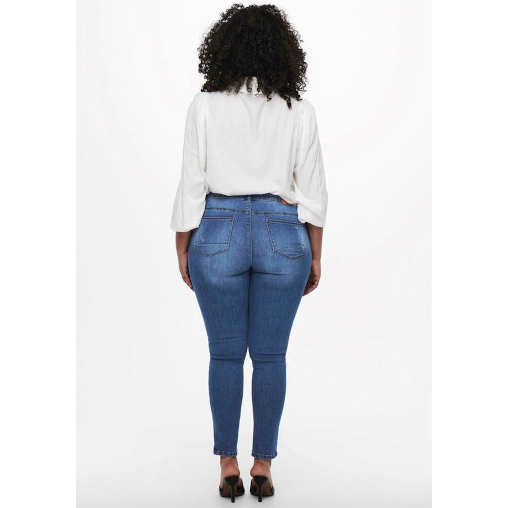 ONLY CARMAKOMA Skinny-fit-Jeans, mit Reißverschluss am Beinabschluss