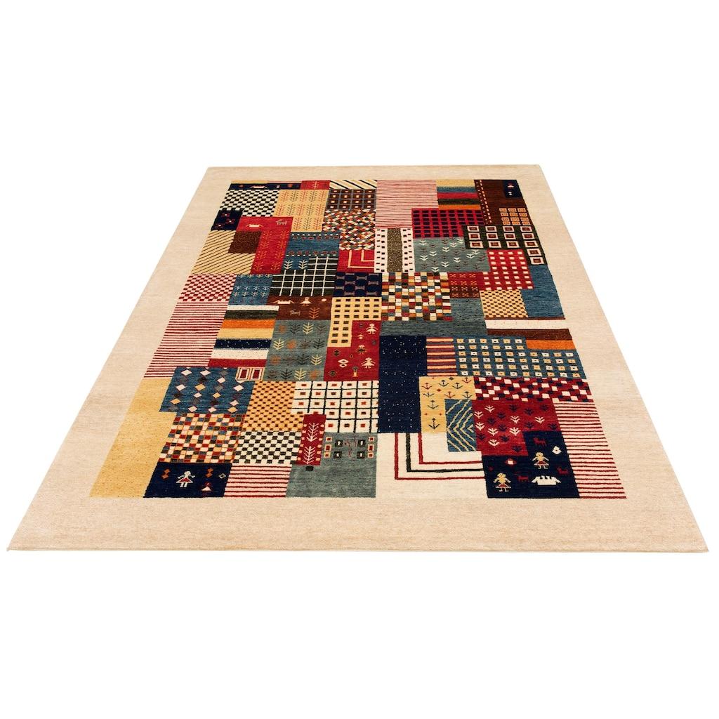 DELAVITA Wollteppich »Naina«, rechteckig, 16 mm Höhe, reine Wolle, handgeknüpft, mit Bordüre, Wohnzimmer