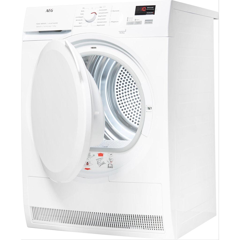 AEG Wärmepumpentrockner »T7DB41580«, 7000, 8 kg, SensiDry – schonend und energiesparend