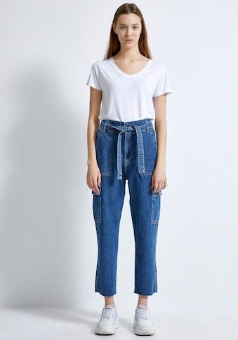 LTB Relax-fit-Jeans »GODIVA«, mit aufesetzten Taschen und Bindeband für einen coolen Look kaufen