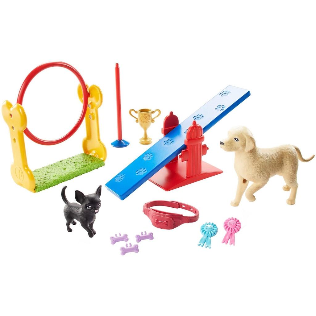 Barbie Anziehpuppe »Ken, Hundetrainer, brünett, mit zwei Hunden«