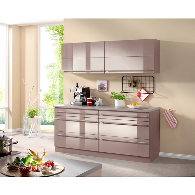 wiho Küchen Küchen-Set »Chicago«, ohne E-Geräte, Gesamtbreite 180 cm