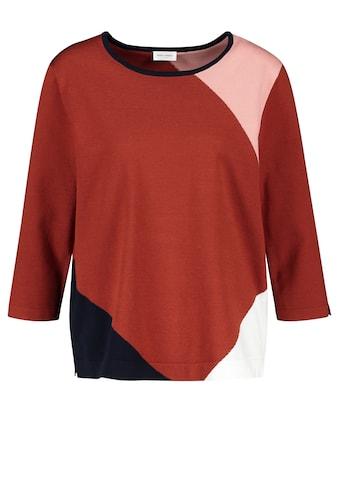 GERRY WEBER 3/4 Arm - Pullover »Pullover mit Patchoptik« kaufen