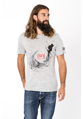 SUPER.NATURAL T-Shirt »M FREESTYLE TEE«, bequemer Merino-Materialmix kaufen