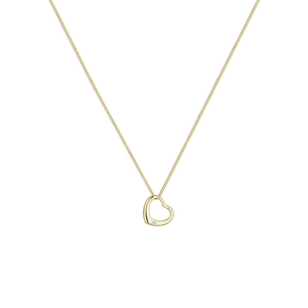 Diamore Collierkettchen »Herz Love Diamant (0.03 ct.) 375 Gelbgold«