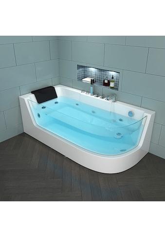 HOME DELUXE Whirlpool-Badewanne »Carica«, B/T/H: 170 / 80 / 59 cm kaufen