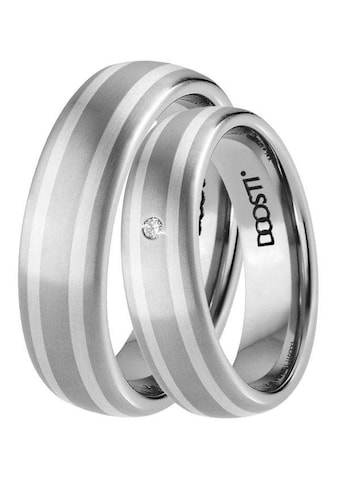 DOOSTI Trauring »TS-02-D, TS-02-H, SILVER WAY«, Made in Germany - wahlweise mit oder... kaufen
