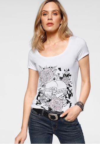 Arizona T-Shirt, mit Glitzerprint und Strass-Steinchen kaufen