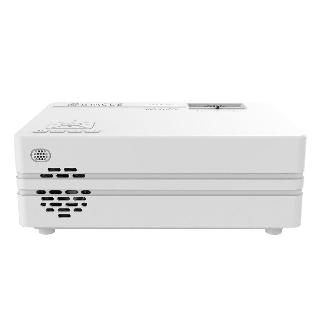 LA VAGUE LED-Beamer »LV-HD240 Wi-Fi«, (1000:1), weiß, unterstützt 720p/1080p, ideal zum Streamen von Netflix