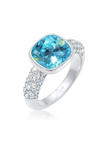 Elli Fingerring »Cocktailring Kristalle 925er Silber« kaufen