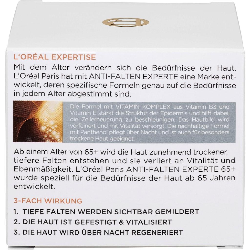 L'ORÉAL PARIS Anti-Aging-Creme »Anti-Falten Experte Feuchtigkeitspflege Nacht für Haut 65+«