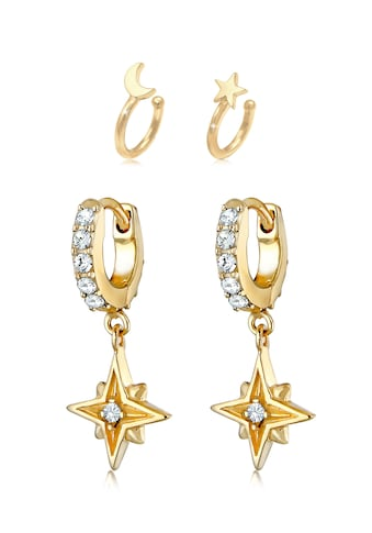 Elli Ohrring-Set »Set Creolen Earcuff Sterne 925 Silber« kaufen