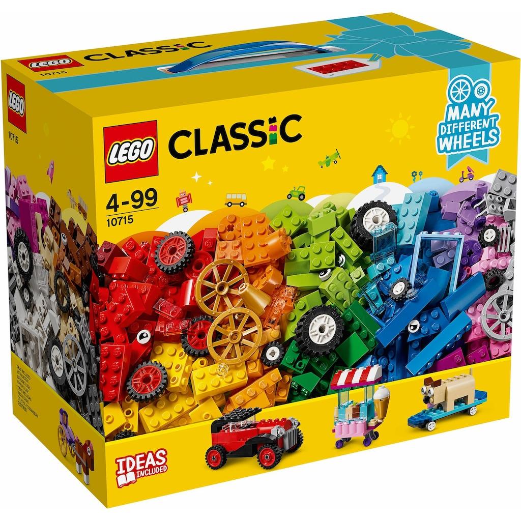LEGO® Konstruktionsspielsteine »Kreativ-Bauset Fahrzeuge (10715), LEGO® Classic«, (442 St.), Made in Europe