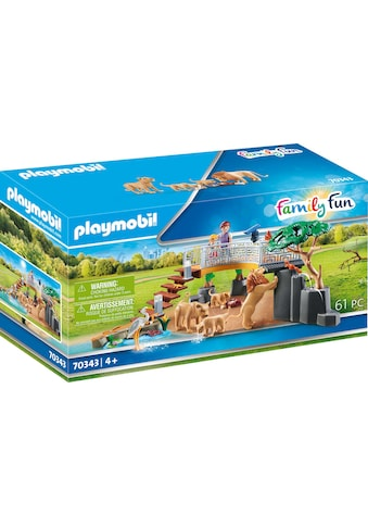 "Playmobil® Konstruktions - Spielset ""Löwen im Freigehege (70343), Family Fun"", Kunststoff kaufen"