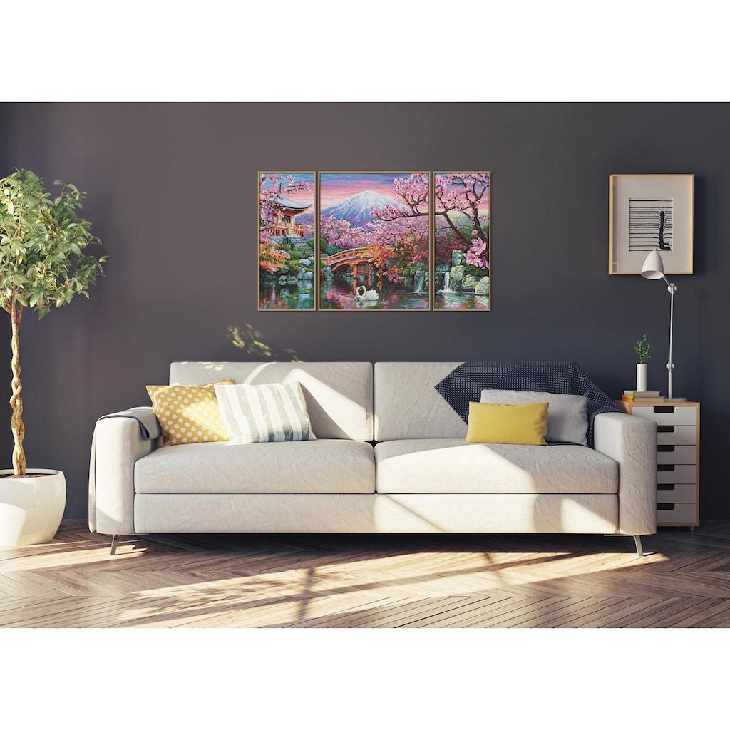 Schipper Malen nach Zahlen »Meisterklasse Triptychon, Kirschblüte in Japan«, Made in Germany