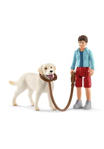 """Schleich® Spielfigur """"Farm World, Spaziergang mit Labrador Retriever (42478)"""" kaufen"""