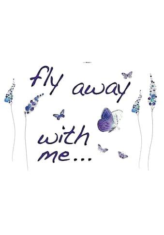 KOMAR Packung: Wandtattoo »Butterflies«, 17 - teilig kaufen