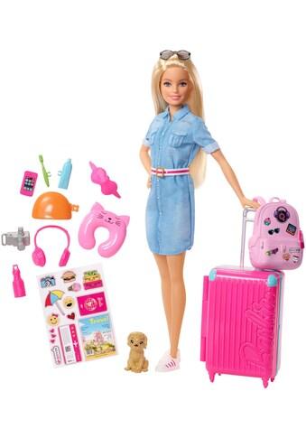 Barbie Anziehpuppe »Reise Puppe, blond mit Zubehör« kaufen