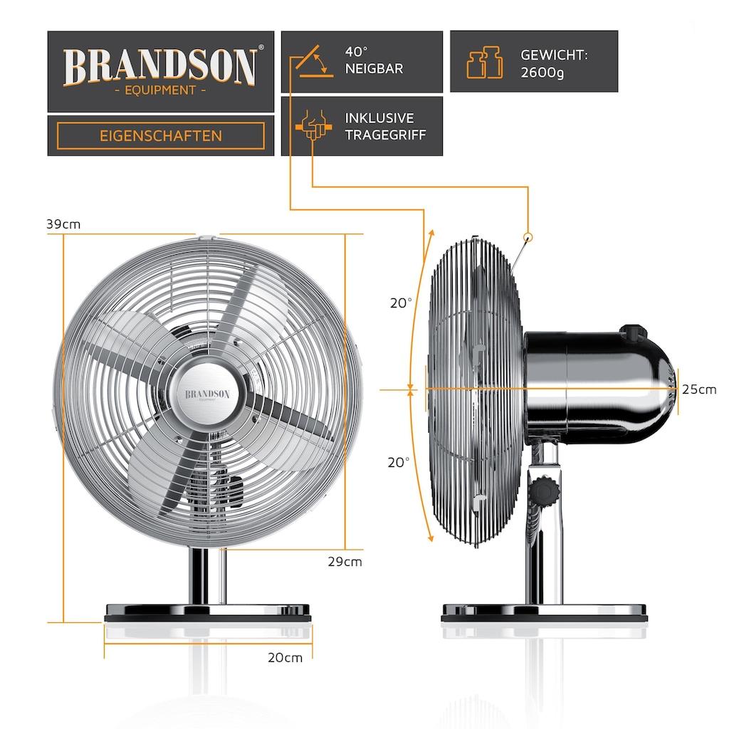 Brandson Tischventilator mit 3 Geschwindigkeitsstufen & Oszillation