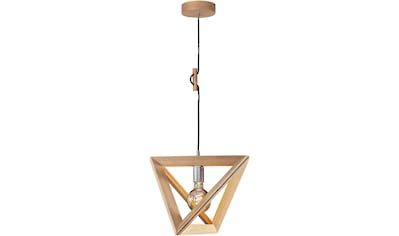 SPOT Light Pendelleuchte »TRIGONON«, E27, Hängeleuchte, Massives Eichenholz,... kaufen