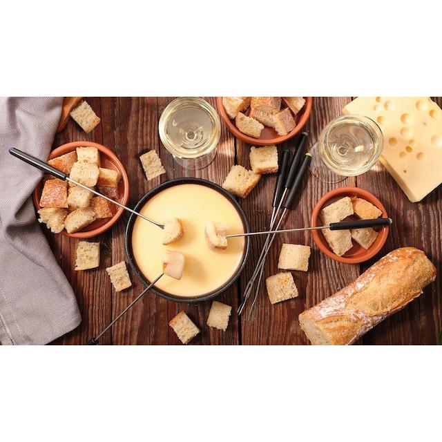 Tefal Raclette RE12C8 Fondue Cheese 'n Co, 6 Raclettepfännchen, 850 Watt