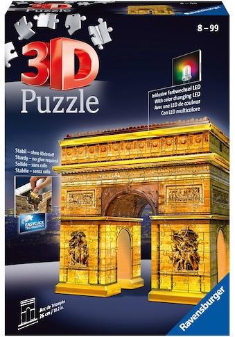 Ravensburger 3D-Puzzle »Triumphbogen bei Nacht«, mit Leuchtmodul inkl. LEDs; Made in... kaufen