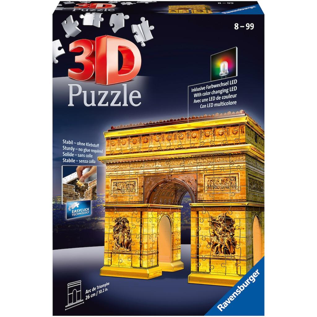 Ravensburger 3D-Puzzle »Triumphbogen bei Nacht«, mit Leuchtmodul inkl. LEDs; Made in Europe, FSC® - schützt Wald - weltweit