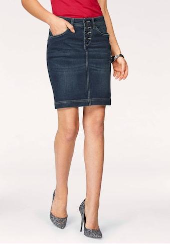 Arizona Jeansrock »mit sichtbarer Knopfleiste« kaufen