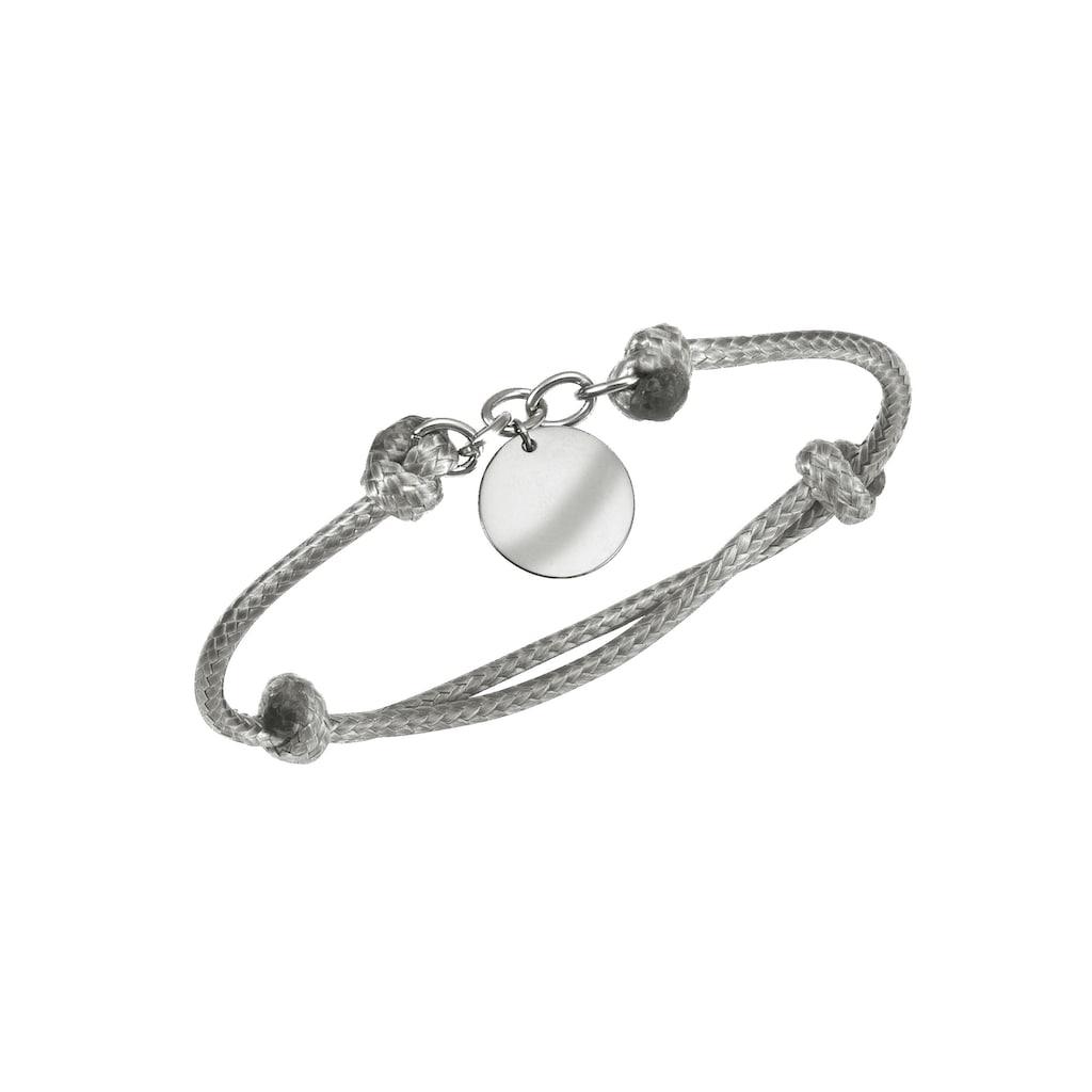 Firetti Armband mit Gravur »Gravur-Anhänger - mit persönlicher, kostenloser Gravur, hellgrau«