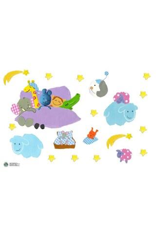 Wall-Art Wandtattoo »Gute Nacht Wolken KiKANiNCHEN« kaufen