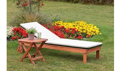 MERXX Gartenliege »Aktionsliegen Set«, 1 Liege und 1 Hocker, mit Auflagen kaufen