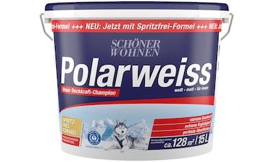 SCHÖNER WOHNEN-Kollektion Wand- und Deckenfarbe »Polarweiss«, 15 l, starke Deckkraft kaufen