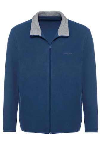 Catamaran Fleece - Jacke mit kontrastfarbenem Stehkragen innen kaufen