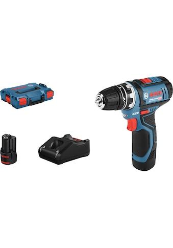 Bosch Professional Akku-Schrauber »GSR 12V-15 FC Professional«, mit 2 Akkus und Ladegerät kaufen